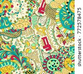 tracery seamless pattern.... | Shutterstock .eps vector #772578475