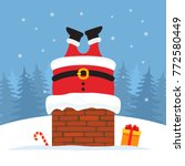 santa claus was stuck in the... | Shutterstock .eps vector #772580449
