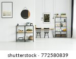 simple painting and mirror on... | Shutterstock . vector #772580839