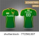 t shirt sport design front and...   Shutterstock .eps vector #772581307