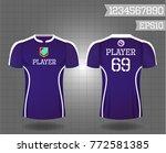 t shirt sport design front and... | Shutterstock .eps vector #772581385