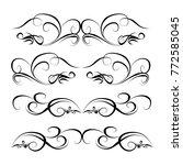 decorative  calligraphic... | Shutterstock .eps vector #772585045