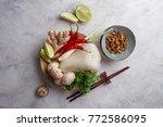 ingredients for spicy asian...   Shutterstock . vector #772586095