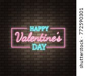 neon happy valentine's day...   Shutterstock .eps vector #772590301