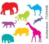 Set Of African Animals ...