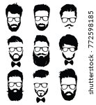 set of hairstyles for men in... | Shutterstock .eps vector #772598185