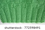 close up of the knitted rib