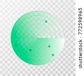 radar screen icon. vector...   Shutterstock .eps vector #772598965