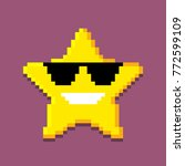 Icon of the pixel star. computer generated vector illustration isolated on white background | Shutterstock vector #772599109