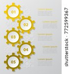 step by step infographic.... | Shutterstock .eps vector #772599367