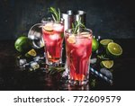 refreshment alcoholic red... | Shutterstock . vector #772609579