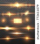 illustration of lens flare... | Shutterstock . vector #772611079