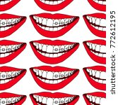 braces on teeth vector...   Shutterstock .eps vector #772612195
