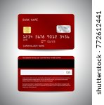realistic detailed credit cards ... | Shutterstock .eps vector #772612441