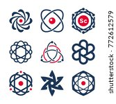 science symbols  atom and... | Shutterstock .eps vector #772612579