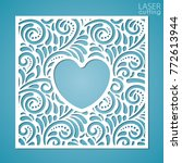 a square panel with lace... | Shutterstock .eps vector #772613944