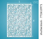 laser cut ornamental panel with ... | Shutterstock .eps vector #772613971