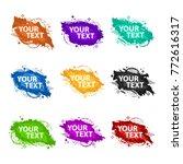 set grunge splash banners.... | Shutterstock .eps vector #772616317