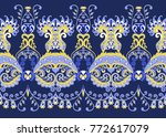 seamless wide border with... | Shutterstock .eps vector #772617079