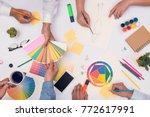 concept of designer teamwork.... | Shutterstock . vector #772617991