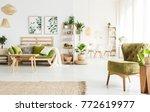 bright spacious apartment... | Shutterstock . vector #772619977