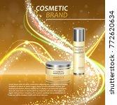 3d realistic cosmetic bottle... | Shutterstock .eps vector #772620634