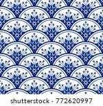 porcelain seamless pattern...
