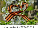 st. george ribbon on a... | Shutterstock . vector #772621819