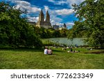 central park couple in new york ... | Shutterstock . vector #772623349