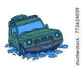 off road suv car logo emblem ... | Shutterstock .eps vector #772624039