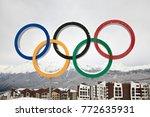 krasnaya polyana  sochi  ... | Shutterstock . vector #772635931