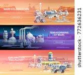 mars colonization terraforming... | Shutterstock .eps vector #772636231