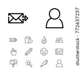 editable icons set with people...