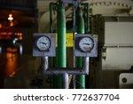 gauge pipe line pressure at... | Shutterstock . vector #772637704