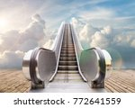 Outdoor Escalator To The Sky  ...