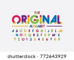 vector of modern colorful font... | Shutterstock .eps vector #772643929