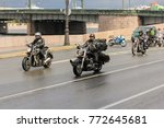 bikers on motorcycles. st.... | Shutterstock . vector #772645681