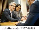 business people meeting in... | Shutterstock . vector #772649449