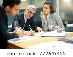 executive people doing business ... | Shutterstock . vector #772649455