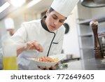 closeup of cook chef in...   Shutterstock . vector #772649605