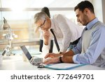 financial people working... | Shutterstock . vector #772649701