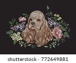 embroidery floral pattern with... | Shutterstock .eps vector #772649881