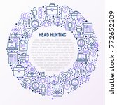 head hunting concept in circle... | Shutterstock .eps vector #772652209