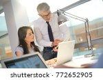 businessman giving instructions ...   Shutterstock . vector #772652905