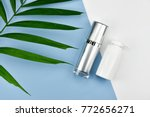 cosmetic bottle containers with ... | Shutterstock . vector #772656271