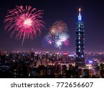 Firework With Cityscape...