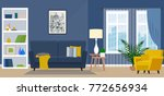the design of the living room... | Shutterstock .eps vector #772656934
