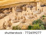 cliff dwellings in mesa verde... | Shutterstock . vector #772659277