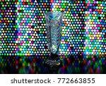 glass transparent vase on the