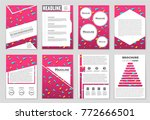 abstract vector layout... | Shutterstock .eps vector #772666501